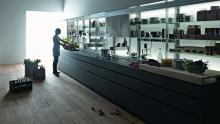 Artematica new logica kitchen utilizing a linear layout.