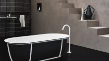 Cuna bathtub with floor standing Fez tap.